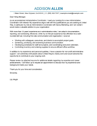 Administrative Sample Resume by Best Administrative Coordinator Cover Letter Examples Livecareer