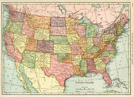 Vintage Map Map Usa High Resolution United States Map Vintage Map Antique Map