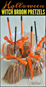 create these cute broomsticks from pretzels easy non candy