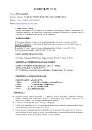 Tax Inspector Resume Resume For Qc Inspector