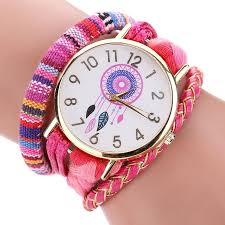 pink bracelet watches images Sleek and stylish bohemian dreamcatcher bracelet watch wrist alley jpg