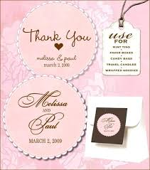 wedding favor labels template untag