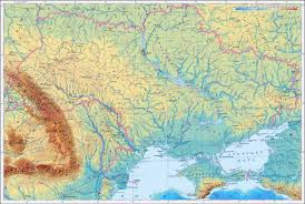 Map Ukraine Large Elevation Map Of Ukraine In Ukrainian Ukraine Europe