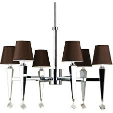 Chandelier With Black Shades Warehouse Of Tiffany Rosalias Modern Cage 6 Light Chrome