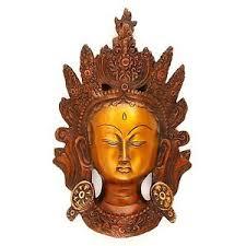 brass wall hanging crown tara king buddha lady sculpture home
