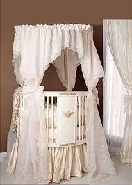 elegant white baby nursery round crib bedding ideas babies