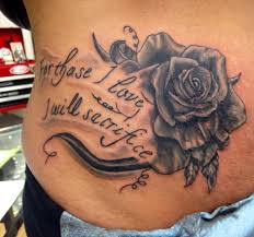 for those i love i will sacrifice rose tattoo tattoo idea hip
