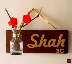Best  Wooden Name Plates Ideas Only On Pinterest Door Name - Name plate designs for home