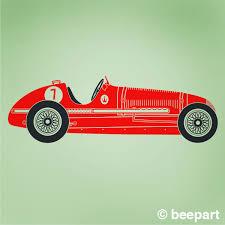 maserati turquoise race car wall decal retro grand prix maserati
