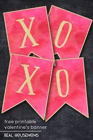 valentines banner free printable s banner real housemoms