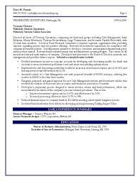 Senior Finance Executive Resume Sample Resume For Finance Executive Sample Financial Resume