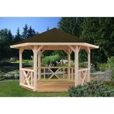 tonnelle de jardin en bois de jardin betty 9 9 m bois massif lamellé collé