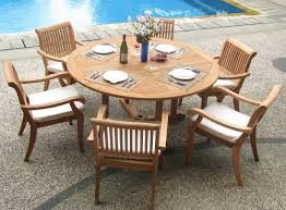 wholesale teak 7 piece teak dining set with 60