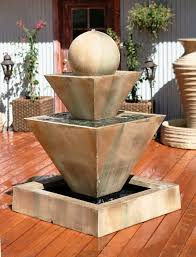 decorations stacked shale outdoor water fountain w led lights