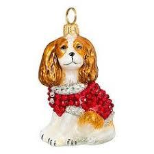 snowy cavalier king blenheim ornament ornament