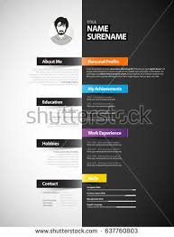creative resume template creative cv template paper stripes stock vector 637760803