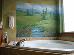 bathroom mural ideas bathroom wall decorations ideas photogiraffe me