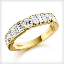 eternity rings gold images 18ct yellow gold set diamond half eternity ring cotton gems jpg