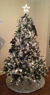 white silver and black tree blue spruce