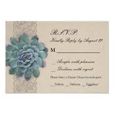 Succulent Wedding Invitations Rustic Succulent Wedding Rsvp Card Invitations Succulent
