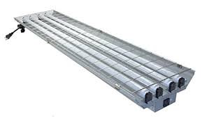 garage fluorescent light fixture grey garage 4 ft 96 watt high bay hanging 4 light shop light plug