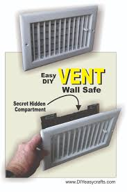 how to make a diy air vent with secret compartment wall safe this