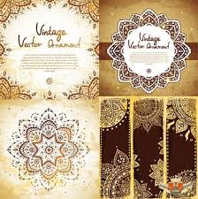 ethnic ornaments and patterns frames vector