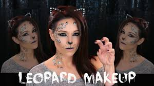 simple leopard makeup halloween makeup tutorial youtube