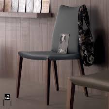 sedie per sala pranzo set 2 sedie moderne per sala da pranzo in cuoio rigenerato davis