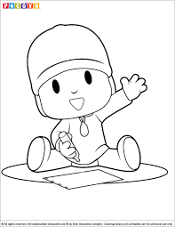pocoyo coloring pages getcoloringpages