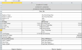 salary receipt template payslip template in excel