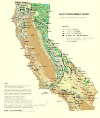 Map Of California And Oregon by California Mountain Atlas Progress Page