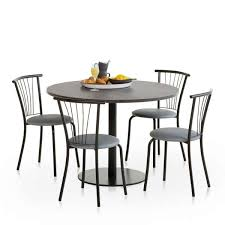table ronde cuisine pied central attachant table de cuisine ronde stratifie pied central rondo