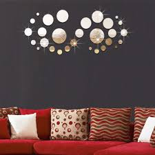 popular wall stickers round buy cheap wall stickers round lots 3d stereoscopic 29pcs round mirror wall stickers children s room marriage room living room tv sofa background
