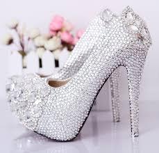 wedding shoes jeweled heels wedding rhinestone shoes ultra high heels pumps women