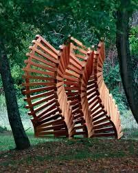 garden with wooden sculpture ornamental outdoor sculptures for