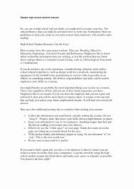 highschool resume template high school student resume template inspirational resume summary