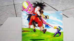 3d drawing dragon ball 2 goku u0027s death