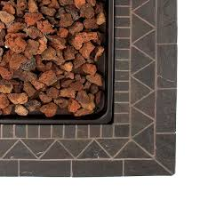 Fire Pit Lava Rock by Blue Rhino Endless Summer Outdoor Propane Gas Lava Rock Patio