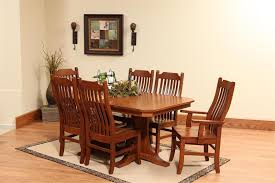 Amish Copper Canyon Mission DoublePedestal Dining Room Table - Amish dining room table