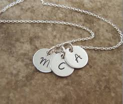 necklace with kids initials silver initial necklace kids initials necklace 3