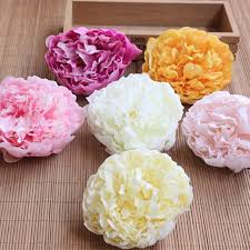 silk peonies 9 5cm 12pcs artificial silk peonies heads real touch peony