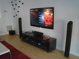 awesome entertaining home theatre set tidily with futuristic