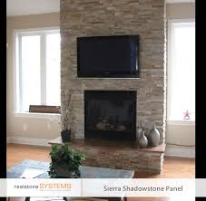 similar to our end game raised hearth beige stone thin stone