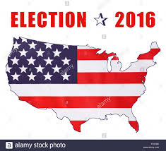 2016 Presidential Map Usa 2016 Presidential Election With Image Of Stars And Stripes In