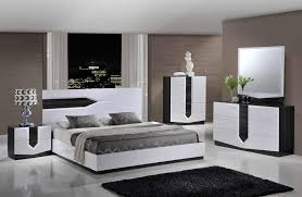 Contemporary White Lacquer Bedroom Furniture Bedroom Bedroom Set