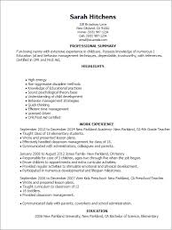 nanny resume exle best nanny resume exle with time nanny resume exle