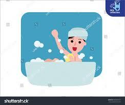 happy woman taking shower bathroom enjoy pleasant stock vector happy woman taking shower in bathroom enjoy pleasant bath with foam people healthy lifestyle