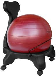 Bounce Ball Chair Furniture Adjustable Gaiam Balance Ball Chair In Gray With 300