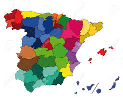 Detailed Map Of Spain by Hi Detailed Colored Map Of Spain Royalty Free Cliparts Vectors